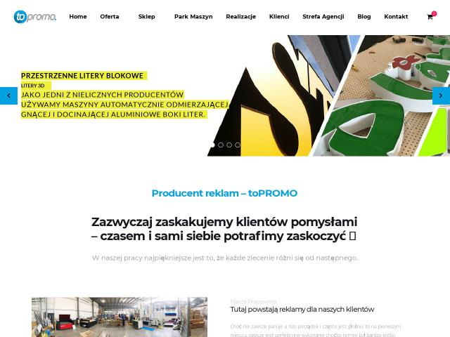 Producent kasetonów | toPROMO Advertising Group